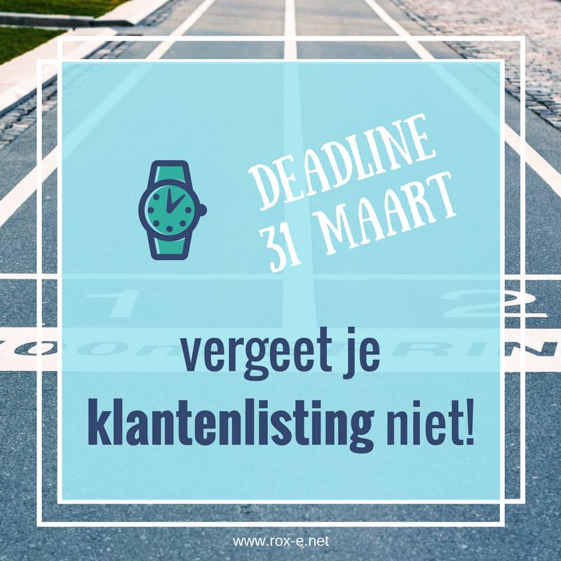 Deadline Klantenlisting